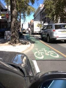 Bike lanes on Chapel St 3